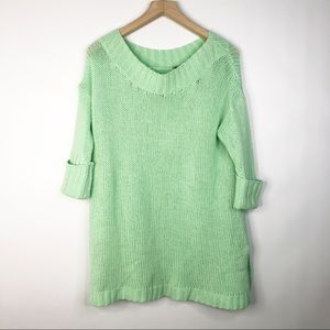 Free People Cashmere Green Sweater